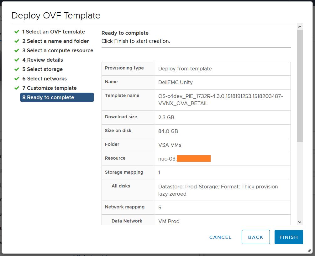 پیکربندی Dell EMC Unity VSA در VMware vSphere
